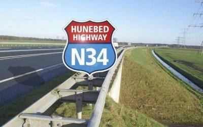 Verjaardagscadeau: ANWB zet N34 als Hunebed Highway in online routeplanner.
