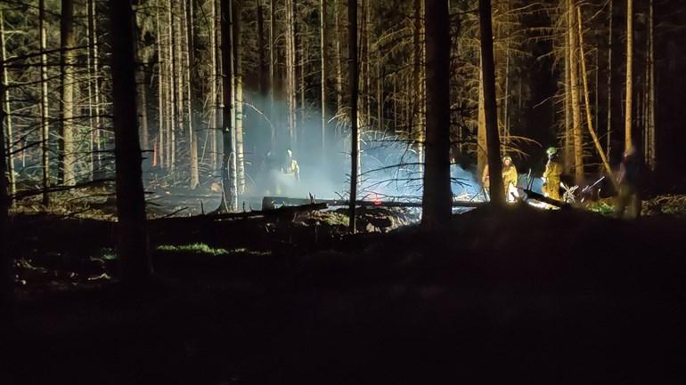 Natuurbrand in Rolde snel onder controle